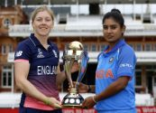 Host England and India will lock horn to lift the cup