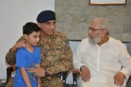 General Qamar Javed Bajwa visited family of Major Ali Salman Shaheed