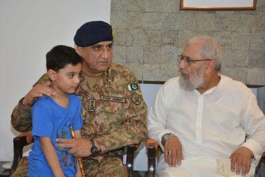 General Qamar Javed Bajwa visited family of Major Ali Salman Shaheed