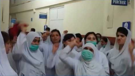 Nurses of Services Hospital celebrated Independence Day