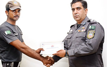 SPU cops rewarded for safeguarding Chinese