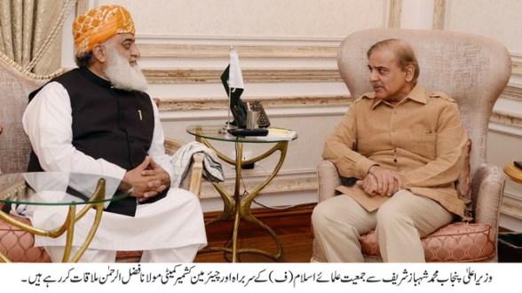 Molana Fazal ur Rehman calls on CM Punjab