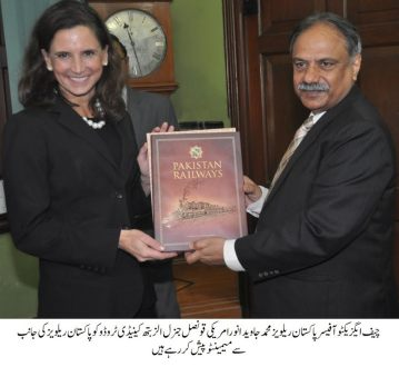 US Consul General Elizabeth Kennedy Trudeau visits to Railways Headquarters