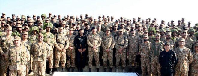 Commander Lahore Corps Lieutenant General Aamer Riaz visited Field Firing Ranges Tilla near Jhelum