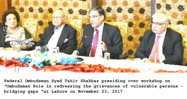 Pakistan needs a justice-oriented society : Federal Ombudsman