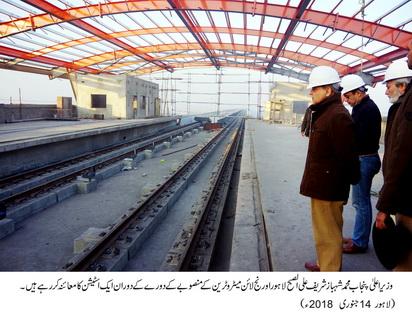 Shahbaz Sharif visited Orange Line Metro Train project