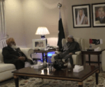 JUI-F chief Maulana Fazal ur Rehman called on Asif Ali Zardari