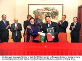 Pakistan, China sign executive programme of cultural agreement