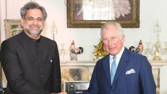Prime Minister Shahid Khaqan Abbasi met Prince Charles Philip