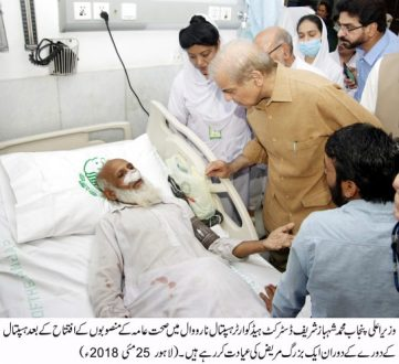 Shahbaz Sharif inaugurated the revamped DHQ Hospital Narowal