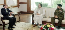 CS and  IG Police called on caretaker CM Punjab