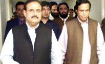 Ch Pervaiz Elahi and Usman Buzdar visit Maulana Abdul Wahab