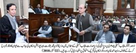 Speaker Punjab Assembly runs the assembly business without opposition