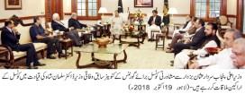 Consultative council for governance delegation met Sardar Usman Buzdar