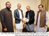 Jahangir Khan Tareen called on Ch Shujaat Hussain and Ch Pervaiz Elahi