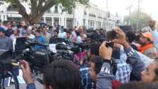 Media workers protest against terminations