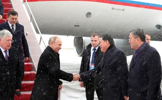 Russian President Vladimir Putin arrived in Astana