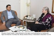 Canadian High Commissioner Wendy Christine Gilmour called on minister information
