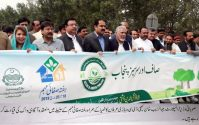 "Minister for Transport lead a walk for ""Saaf and Sarsabz Punjab"""