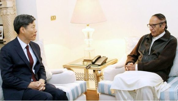 South Korean Ambassador Kwak Sung-Kyu called on Ch Shujaat Hussain