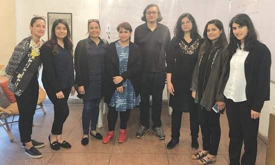 French delegation visited Alhamra Art Museum