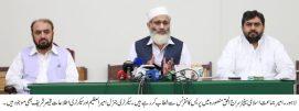Govt ignored overseas Pakistanis during corona crisis : Siraj ul Haq