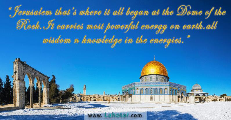Jerusalem that's where it all began…
