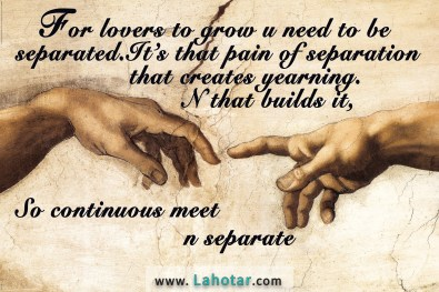 For lovers to grow...