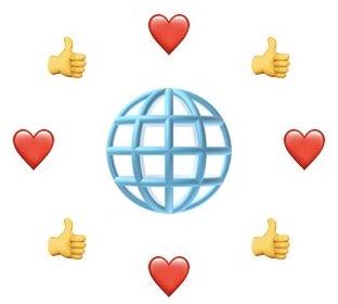 Website Zentralgestirn, Social Media Satelliten