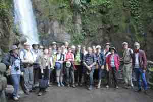 My tour group at La Paz Waterfall Gardens
