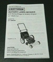 Lawnmower owner's manual.