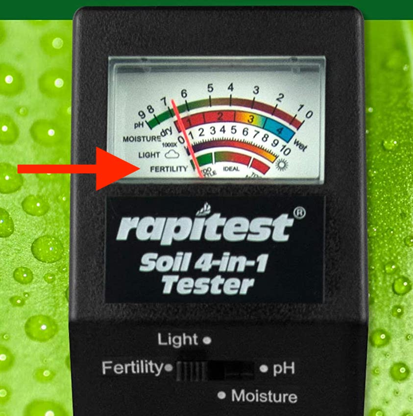 Electronic 4-in-1 soil test device. Tells temperature, light, pH and moisture.