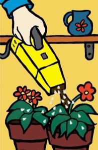 Hand vacuum picking up whiteflies.