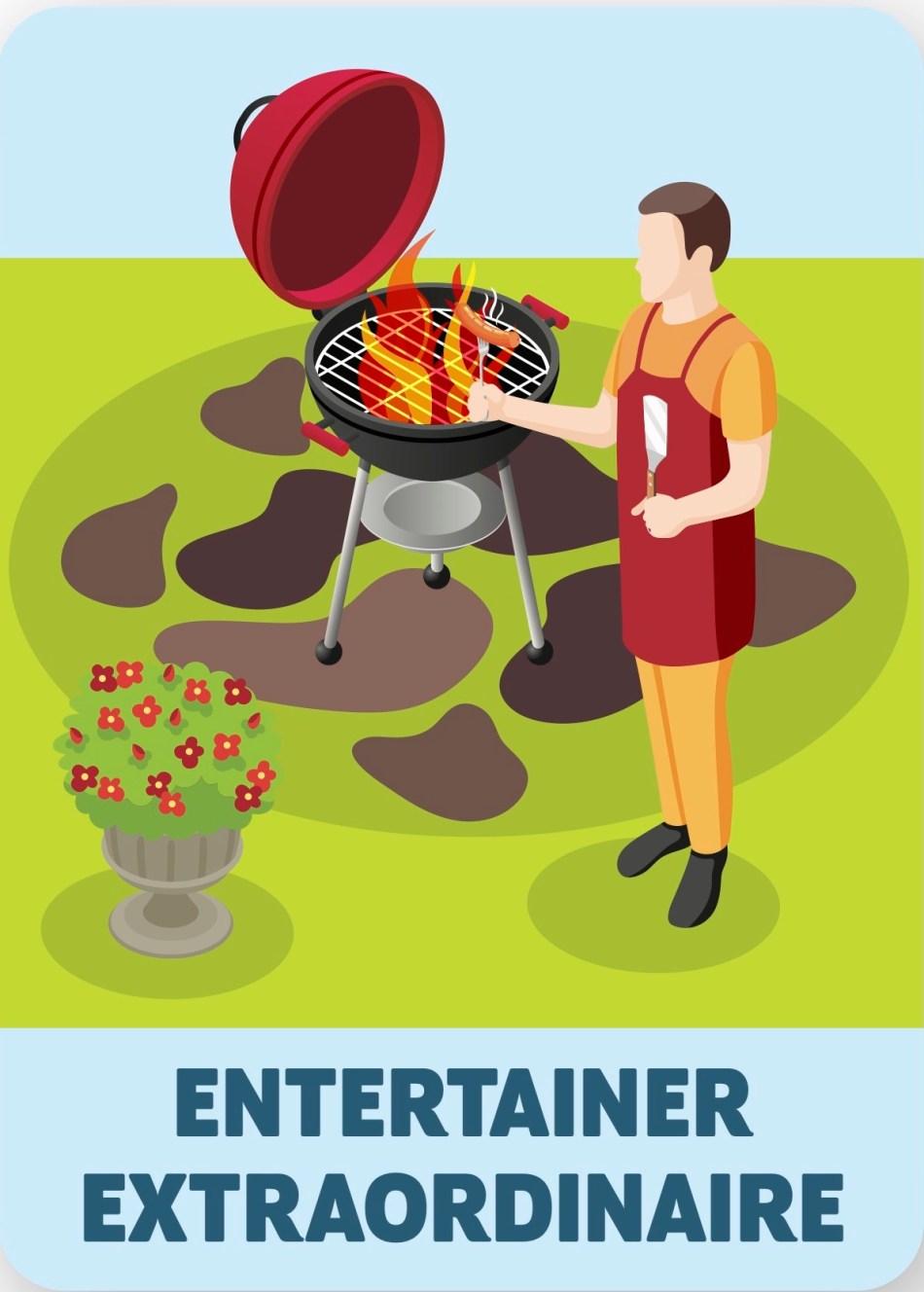 Illustration of entertainer