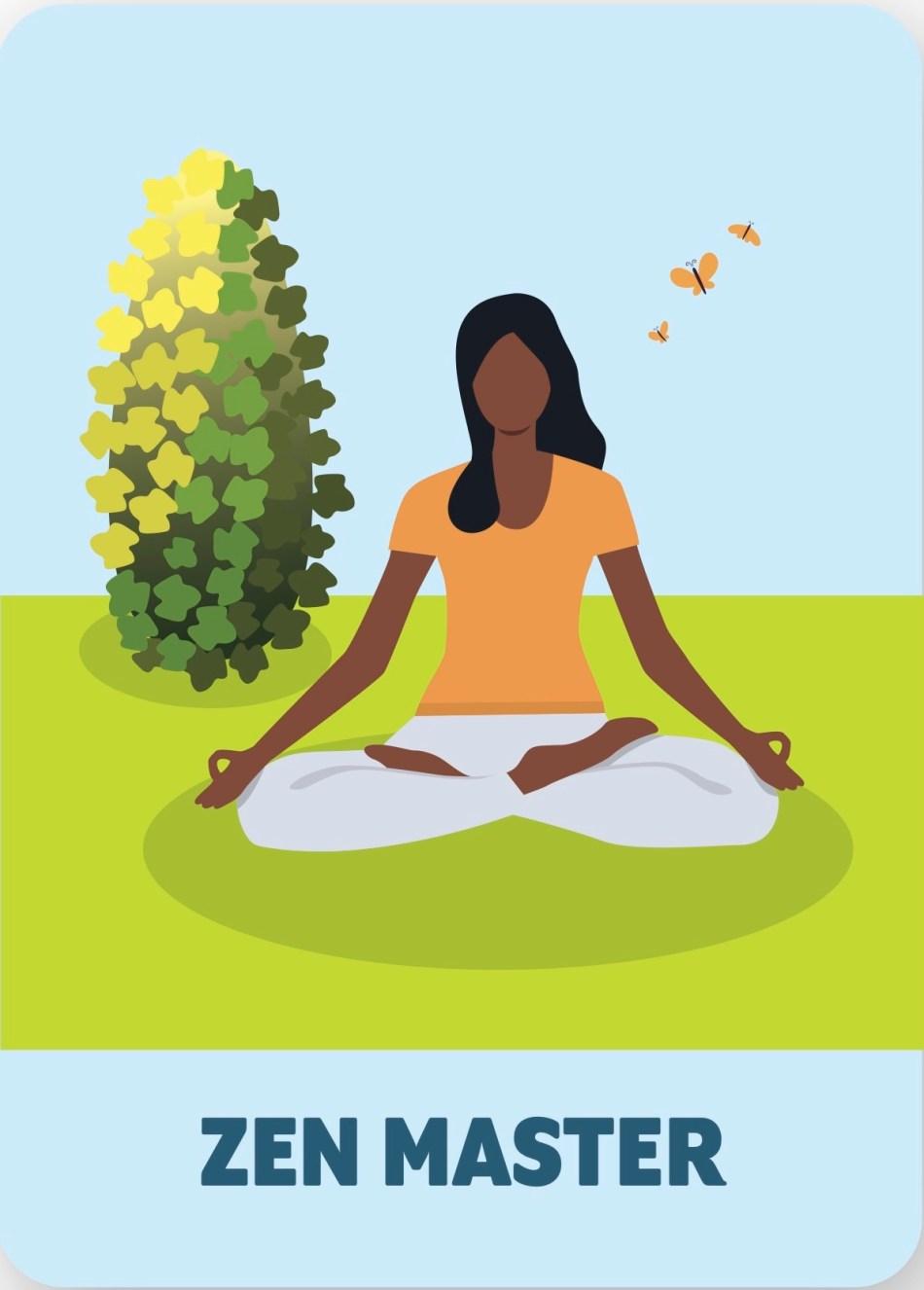 Illustration of Zen master