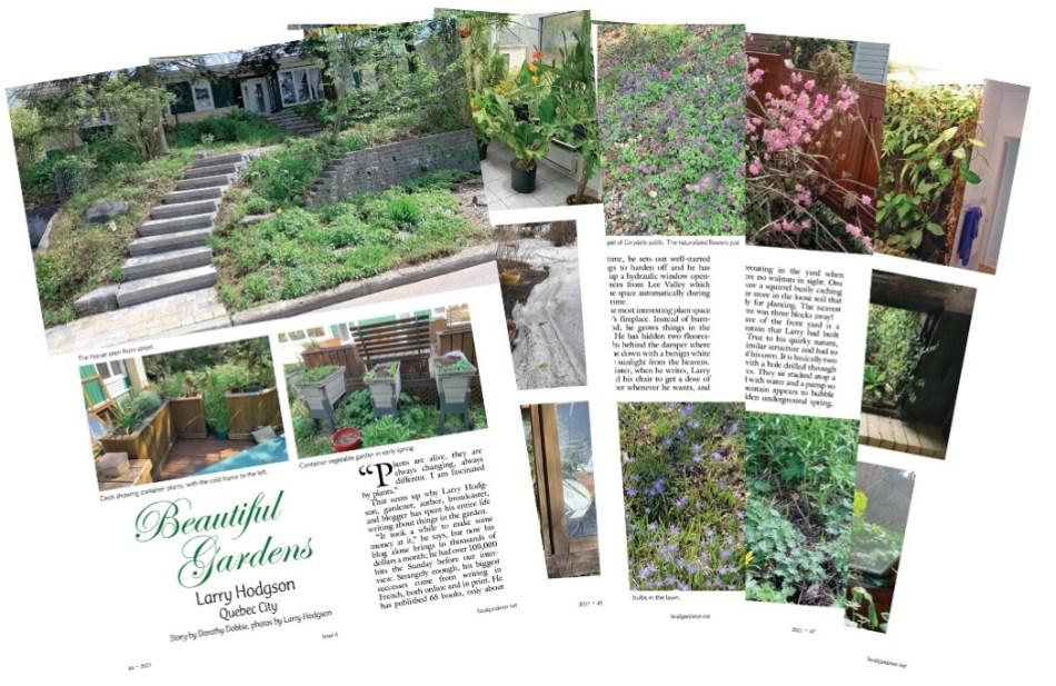 Les 5 pages de l'article sur les jardins de Larry Hodgson.