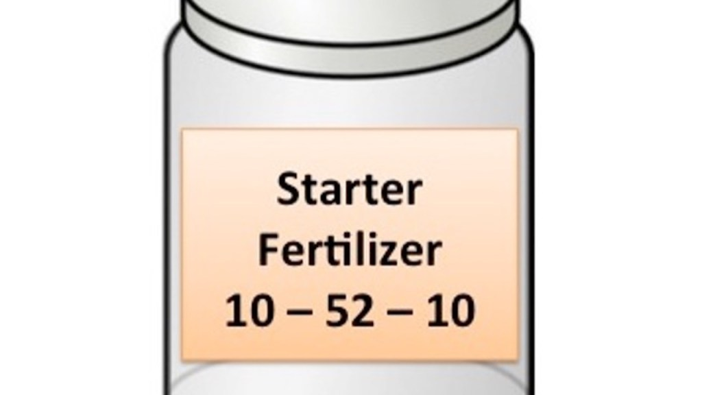 Bottle of starter fertilizer