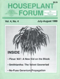 Cover page of Houseplant Forum magazine.