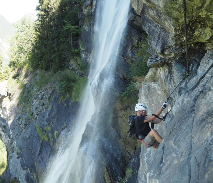 Via Ferrata Fallbach (K4-K5) – Carinthia's highest waterfall