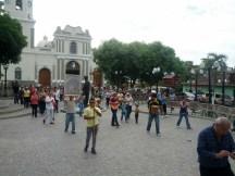 Llegando a la plaza