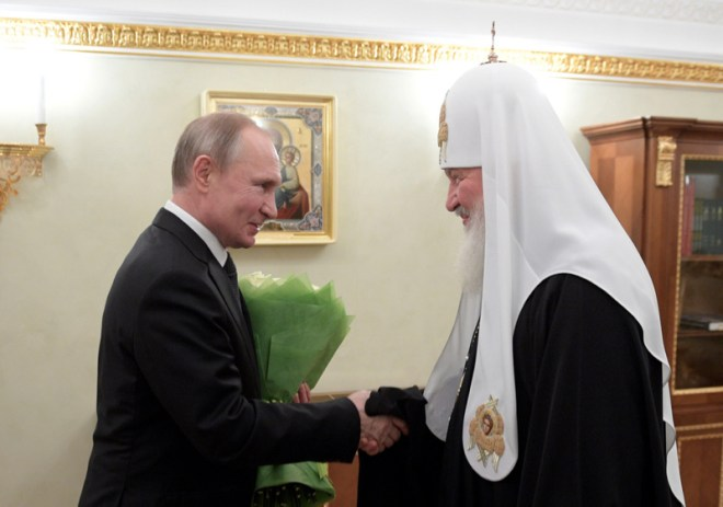 Patriarch Kirill of Moscow and all Russia congratulated by President Putin on occasion of 11th anniversary of enthronement