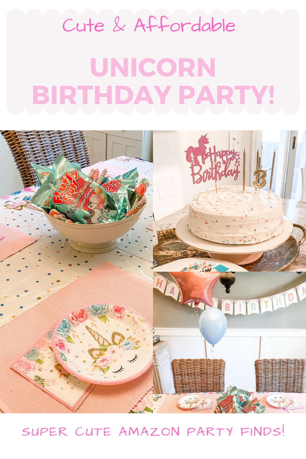 Easy & Affordable Toddler Unicorn Birthday Party