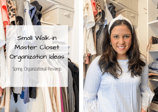 Small Walk-in Master Closet Organization Ideas