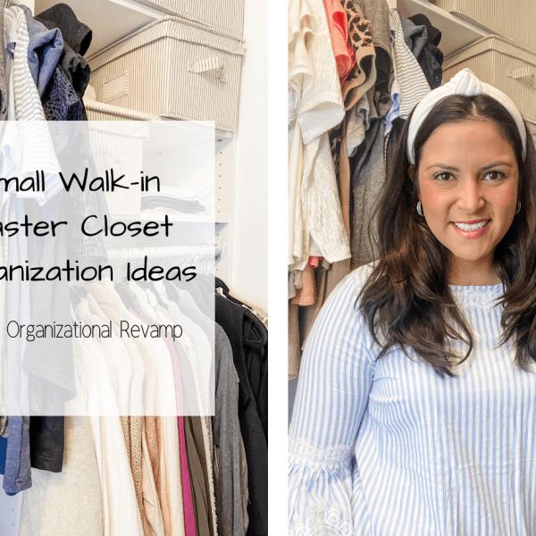 Small Walk-in Master Closet Organization Ideas