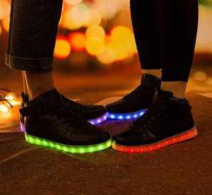 Saguaro 8 Colors LED Light-Up Sneakers
