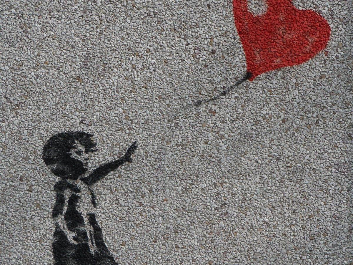 foto mural renuncio niña corazon
