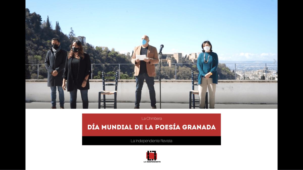día mundial de la poesía granada personas alhambra