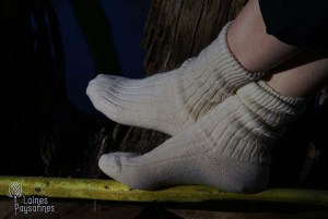 Laines Paysannes chaussettes blanches en laines locales