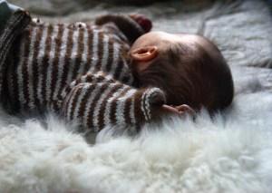 Laines Paysannes peau d'agneau pour bébé en laines locales