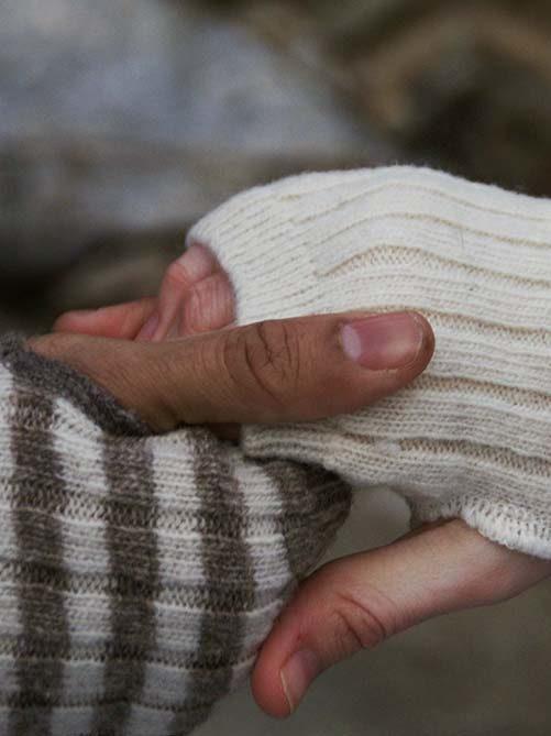 Laines Paysannes gamme de mitaines en laines locales